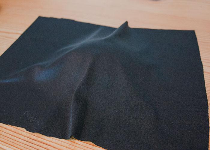 Schale beziehen Stoff schwarz