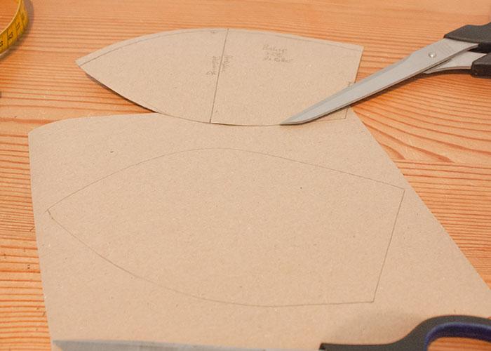 push up kissen papierschnitt schnittteil kopieren