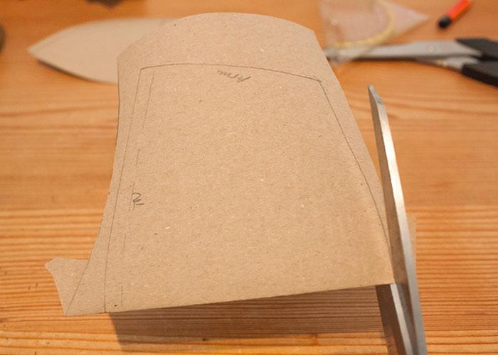 push up innentasche papierschnitt schnittteil nahtecke