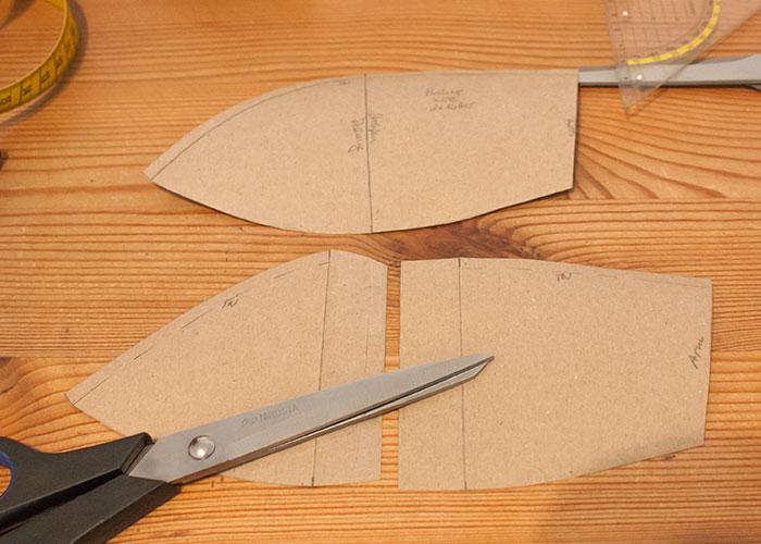 push up innentasche papierschnitt schnittteil fertig