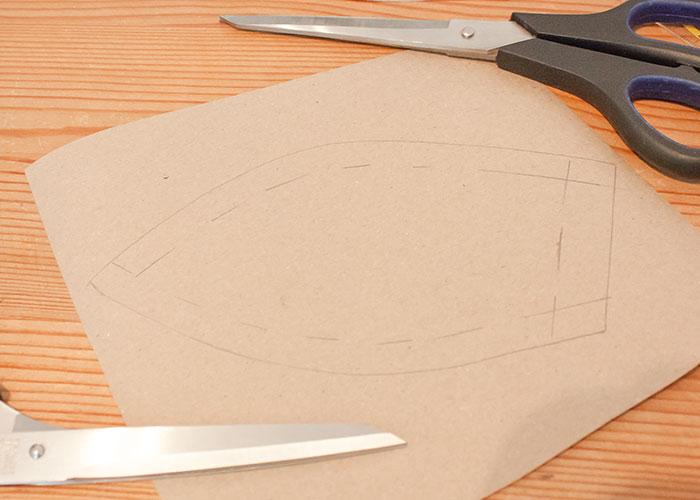 push up kissen papierschnitt schnittteil ohne nahtzugabe