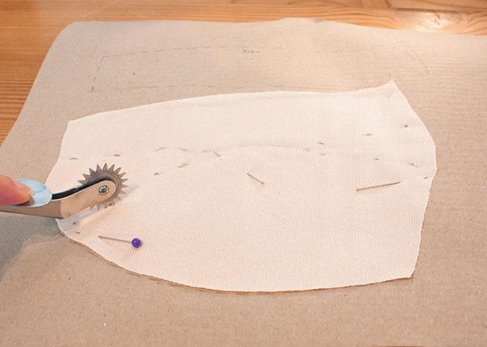push up innentasche papierschnitt schnittteile kopieren