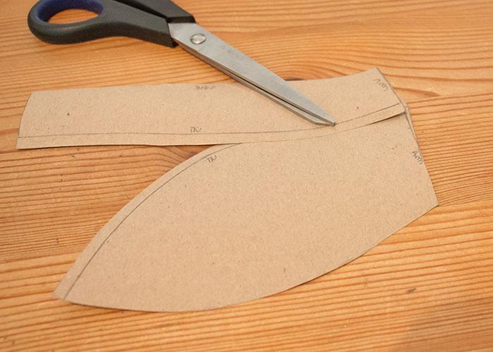 push up innentasche papierschnitt nahtlaenge angleichen