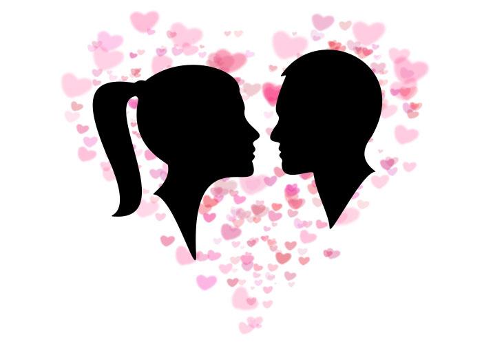 valentinstag liebespaar cameo herzen