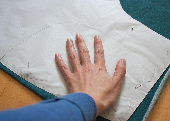 chillhose taschenbeutel einzeichnen schnittzeichnen