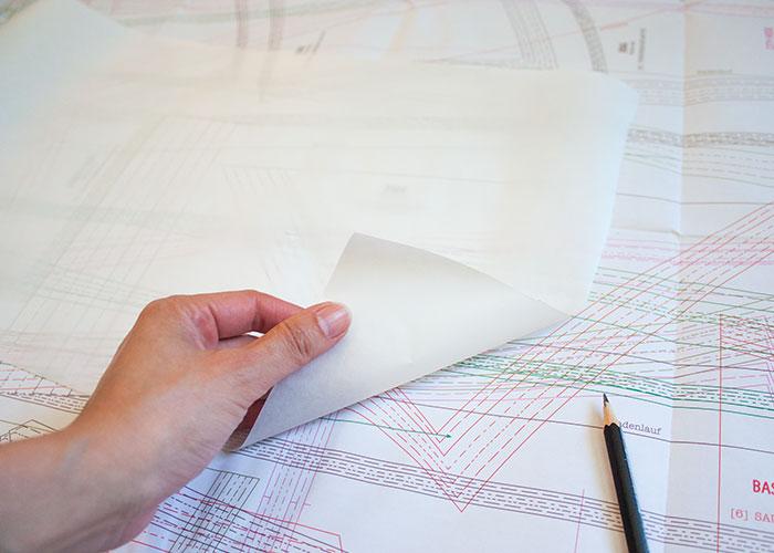 schnittmusterboden, schnittmuster kopieren, butterbrotpapier