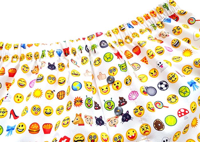 weite Boxershort John nähen mit Emoji